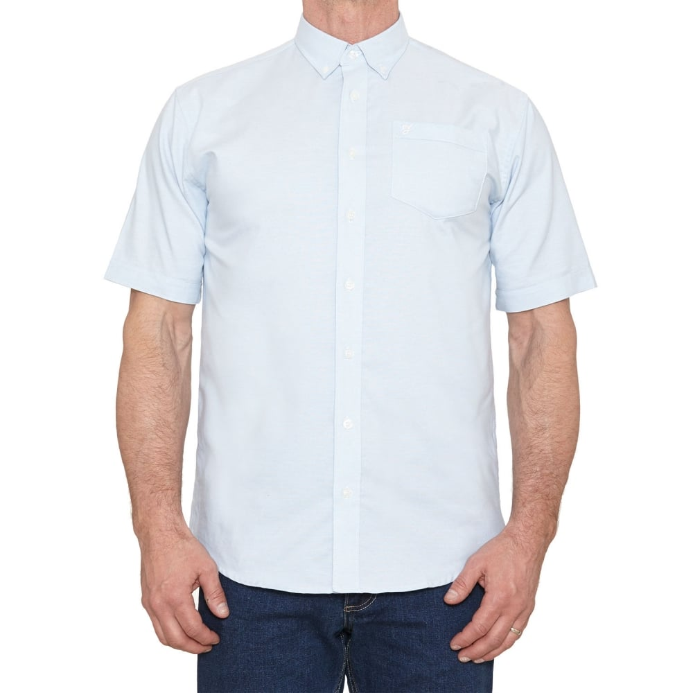 Farah mens short sleeve regular fit oxford shirt 39 the for Mens short sleeve oxford shirt