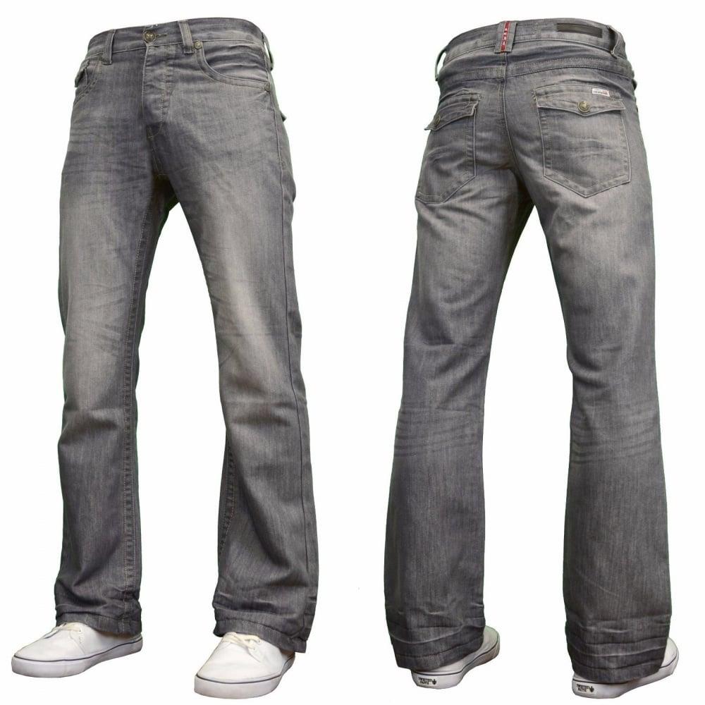Mens BootCut Jeans Stone Edge Apt Denim Waist 28