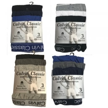 3 Pack Mens Boxers Shorts C- Classic Comfort Fit Underwear Breifs
