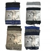 3 Pack Mens Boxers Shorts Calvin Classic Comfort Fit Underwear Breifs