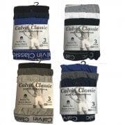 3 Pack Mens Boxers Shorts Designer Calvin Classics Comfort Fit Underwear Breifs