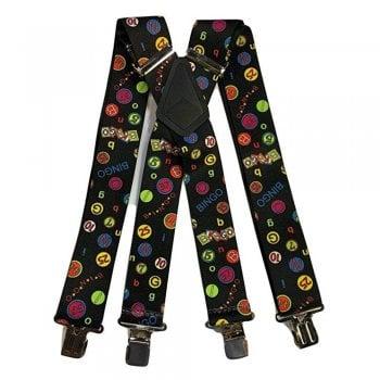 "Brimarc Mens Heavy Duty Bingo Braces Trouser Belt Suspender 2"" 50mm Wide"
