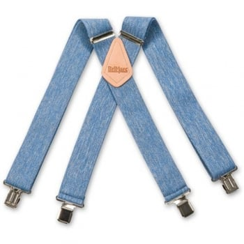 "Brimarc Mens Heavy Duty Denim Braces Trouser Belt Suspender 2"" 50mm Wide"