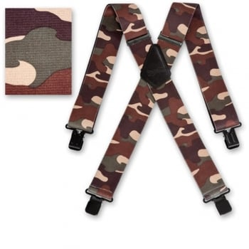 "Brimarc Mens Heavy Duty Desert Camouflage Braces Trouser Belt Suspender 2"" 50mm Wide"
