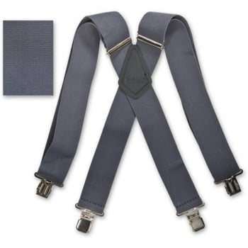 "Brimarc Mens Heavy Duty Grey Braces Trouser Belt Suspender 2"" 50mm Wide"
