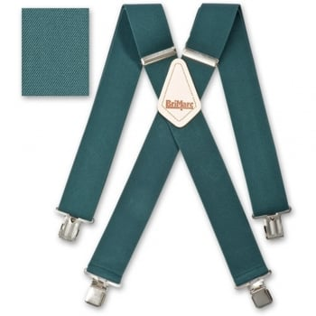 "Brimarc Mens Heavy Duty Hunters Green Braces Trouser Belt Suspender 2"" 50mm Wide"