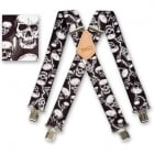 "Brimarc Mens Heavy Duty Lightning Skulls Braces Trouser Belt Suspender 2"" 50mm Wide"