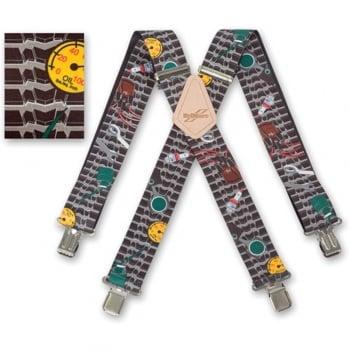 "Brimarc Mens Heavy Duty Mechanic Braces Trouser Belt Suspender 2"" 50mm Wide"