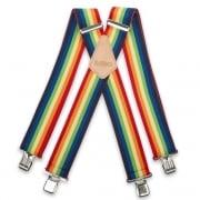 "Brimarc Mens Heavy Duty Multi Coloured Braces Trouser Belt Suspender 2"" 50mm Wide"