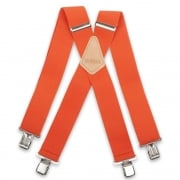 "Brimarc Mens Heavy Duty Orange Braces Trouser Belt Suspender 2"" 50mm Wide"