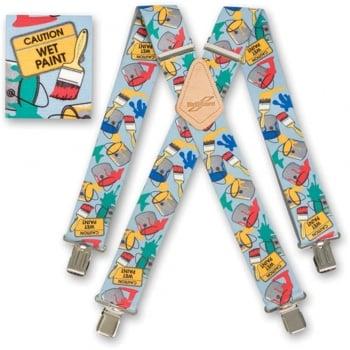 """Brimarc Mens Heavy Duty Painters Braces Trouser Belt Suspender 2"""" 50mm Wide"""