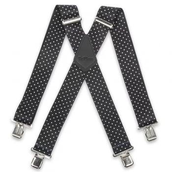"Brimarc Mens Heavy Duty Polka Dot Braces Trouser Belt Suspender 2"" 50mm Wide"