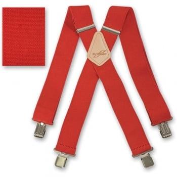 "Brimarc Mens Heavy Duty Red Braces Trouser Belt Suspender 2"" 50mm Wide"