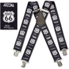 "Brimarc Mens Heavy Duty Route 66 Braces Trouser Belt Suspender 2"" 50mm Wide"