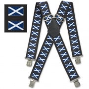 "Brimarc Mens Heavy Duty Scottish Flag Braces Trouser Belt Suspender 2"" 50mm Wide"