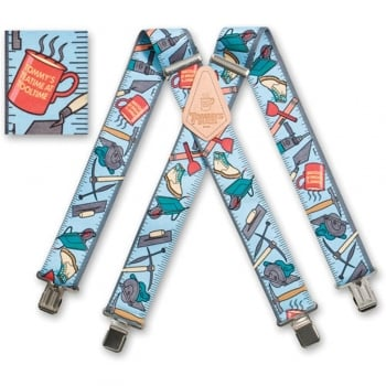 "Brimarc Mens Heavy Duty Tommy Walsh Braces Trouser Belt Suspender 2"" 50mm Wide Hand"