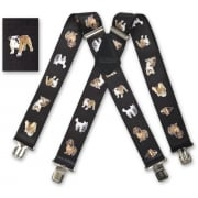 "Brimarc Mens Heavy Duty Toy Dogs Braces Trouser Belt Suspender 2"" 50mm Wide"