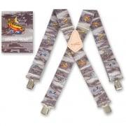 """Brimarc Mens Heavy Duty Trout Fishermans Braces Trouser Belt Suspender 2"""" 50mm Wide"""