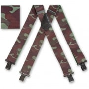 "Brimarc Mens Heavy Duty Woodland Camouflage Braces Trouser Belt Suspender 2"" 50mm Wide"