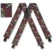 "Brimarc Mens Heavy Duty Woodland Camouflage Braces Trouser Belt Suspender 2"" 50mm Wide"
