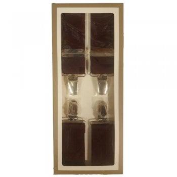 """Carabou Classic 1.4"""" 35mm Wide Vintage Mod Mens Plain Braces Wine"""