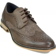Cavani Horatio Real Leather Brown Gatesby Brogues Casual Designer Retro Shoes