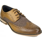 Cavani Horatio Real Leather Tan Gatesby Brogues Casual Designer Retro Shoes
