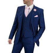 Cavani Mens Ford Suit Blue 3 Piece Work, Wedding or Party Suit BNWT
