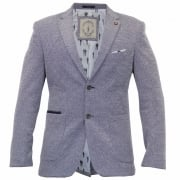 Cavani Mens Mikkal Casual Designer Mens Grey Blazer Jacket
