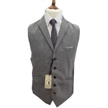Cavani Mens Mikkal Vintage Smart Plain Casual Waistcoat Grey