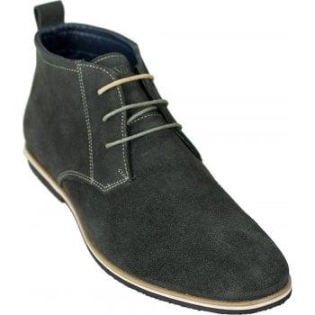 Cavani Mens New Dessert Classic Mod Premium Suede Boots Grey