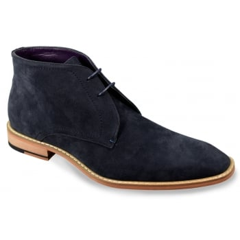 Cavani Mens New James Classic Mod Dessert Real Suede Boots Navy