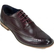 Cavani Oxford Real Leather Wine Gatesby Brogues Casual Designer Retro Shoes