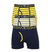 Crosshatch 3 Pack Allsync Striped Designer Boxer Trunks Underwear Dandelion Night