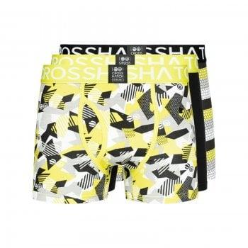 Crosshatch 3 Pack Crystaline Designer Boxer Trunks Underwear Lime Punch
