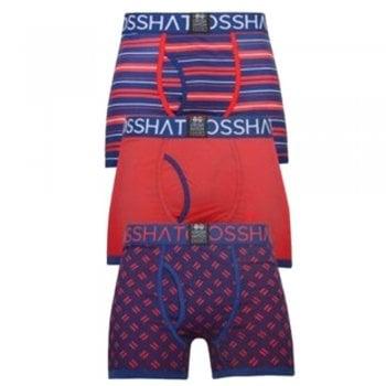 Crosshatch 3 Pack Grillster Designer Boxer Trunks Underwear Barbados Cherry