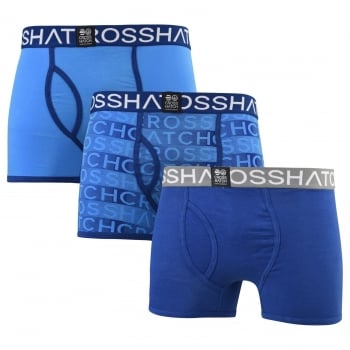 Crosshatch 3 Pack Phazer Designer Boxer Trunks Underwear Limoges