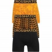 Crosshatch 3 Pack Saunton Designer Boxer Trunks Underwear Orange