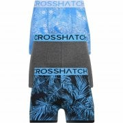 Crosshatch 3 Pack Tresco Floral Designer Boxer Trunks Underwear Blue