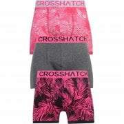 Crosshatch 3 Pack Tresco Floral Designer Boxer Trunks Underwear Pink