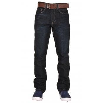 Crosshatch Bancrofter Mens new Branded Regular Fit Straight Leg Denim Jeans Raw Wash