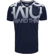 Casual Graphic V Neck T Shirt Lamonte Navy