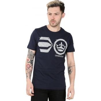 Crosshatch Mens Onsite Casual T-Shirt Night Sky
