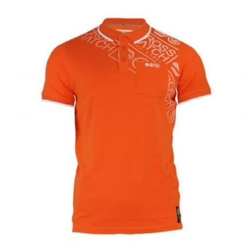 Crosshatch Fadelast Mens Authentic Casual Designer Pique Polo Shirt Flame