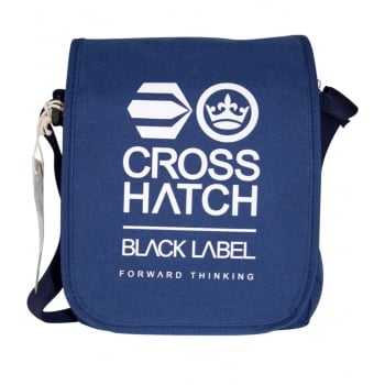 Crosshatch Lamoon Mini Satchel Messenger Travel Bag Sodalite Blue