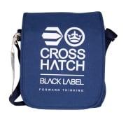 Crosshatch Lamoon Mini Satchel Messenger Travel Bag Sodalite Blue