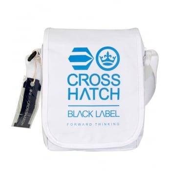 Crosshatch Lamoon Mini Satchel Messenger Travel Bag White