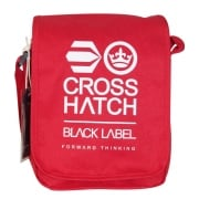 Crosshatch Lamoon Mini Satchell Messenger Travel Bag Red