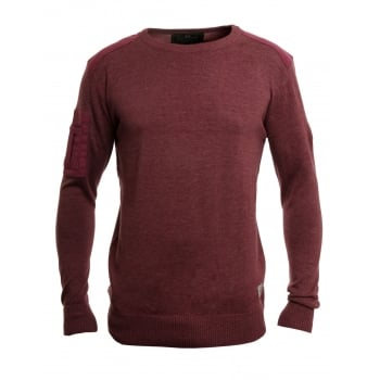 Crosshatch Linzee Crew Neck Cotton Jumper Cabenet Marl