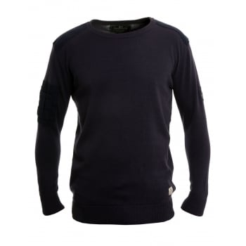 Crosshatch Linzee Crew Neck Cotton Jumper Parision Navy